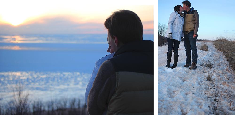 winter engagement photo session lucas evans katie Kski aubrey ann parker photography Treat Farm Sleeping Bear Dunes National Lakeshore
