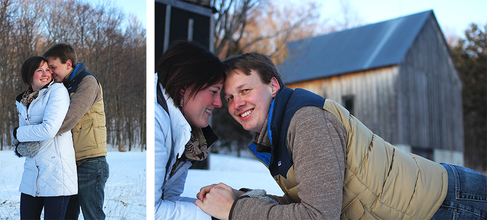 winter engagement photo session lucas evans katie Kski aubrey ann parker photography Treat Farm Sleeping Bear Dunes National Lakeshore