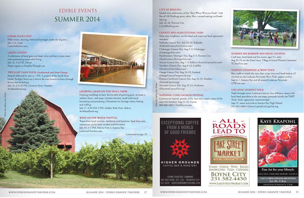 Ciccone Vineyard Winery Barn Cedar Polka Festival Food For Thought Inc. Green Cuisine Edible Grande Traverse Summer 2014 Aubrey Ann Parker
