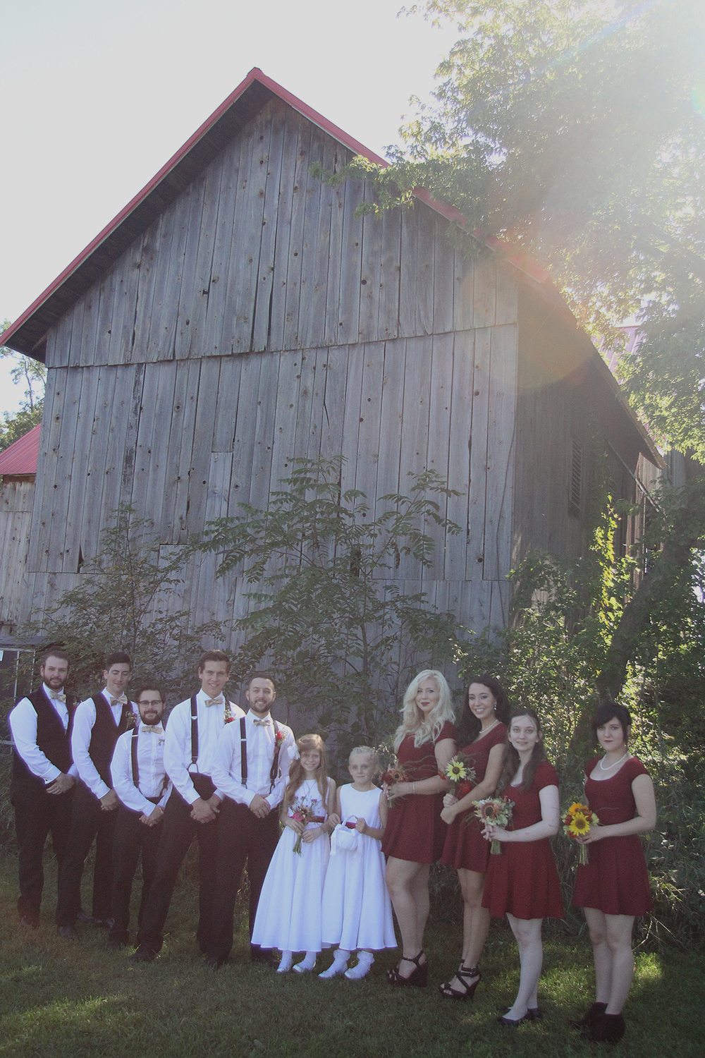 Matt Esckelson Rachel Esckelson John Leach Nicholas Paul Nick Paul Aubrey Ann parker photography bridal party photo Northern Michigan wedding Leelanau County wedding photographer