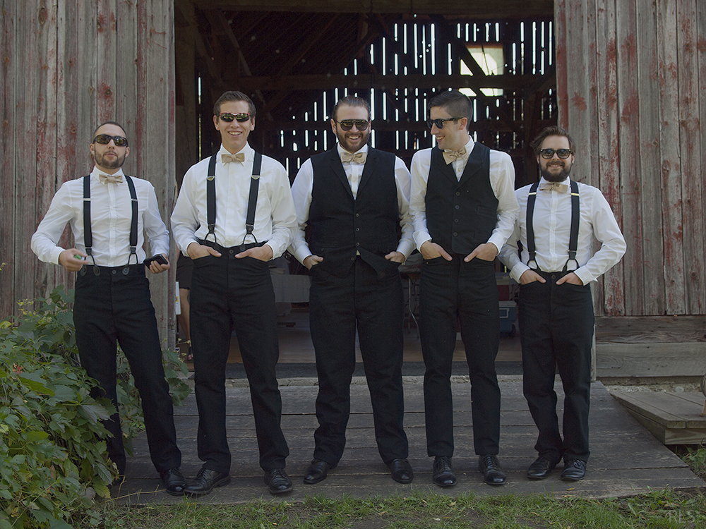 Nicholas Paul John Leach suit and tie groomsmen photos barn wedding Northern Michigan wedding Leelanau County wedding Randi Stoltz photography