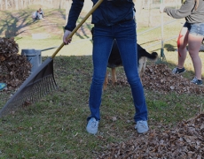 Benzie Girls Soccer Fundraising Event #1: Raking at Grow Benzie