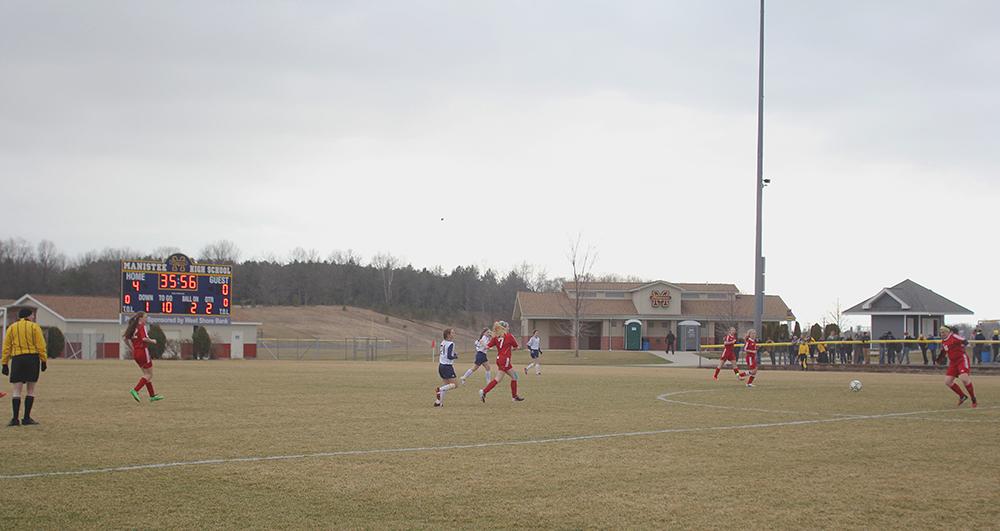 Hanna Burch Emma Husoy Haily Papineau Sarah Middleton Benzie Girls Soccer Manistee Girls Soccer Benzie Huskies Manistee Chippewas
