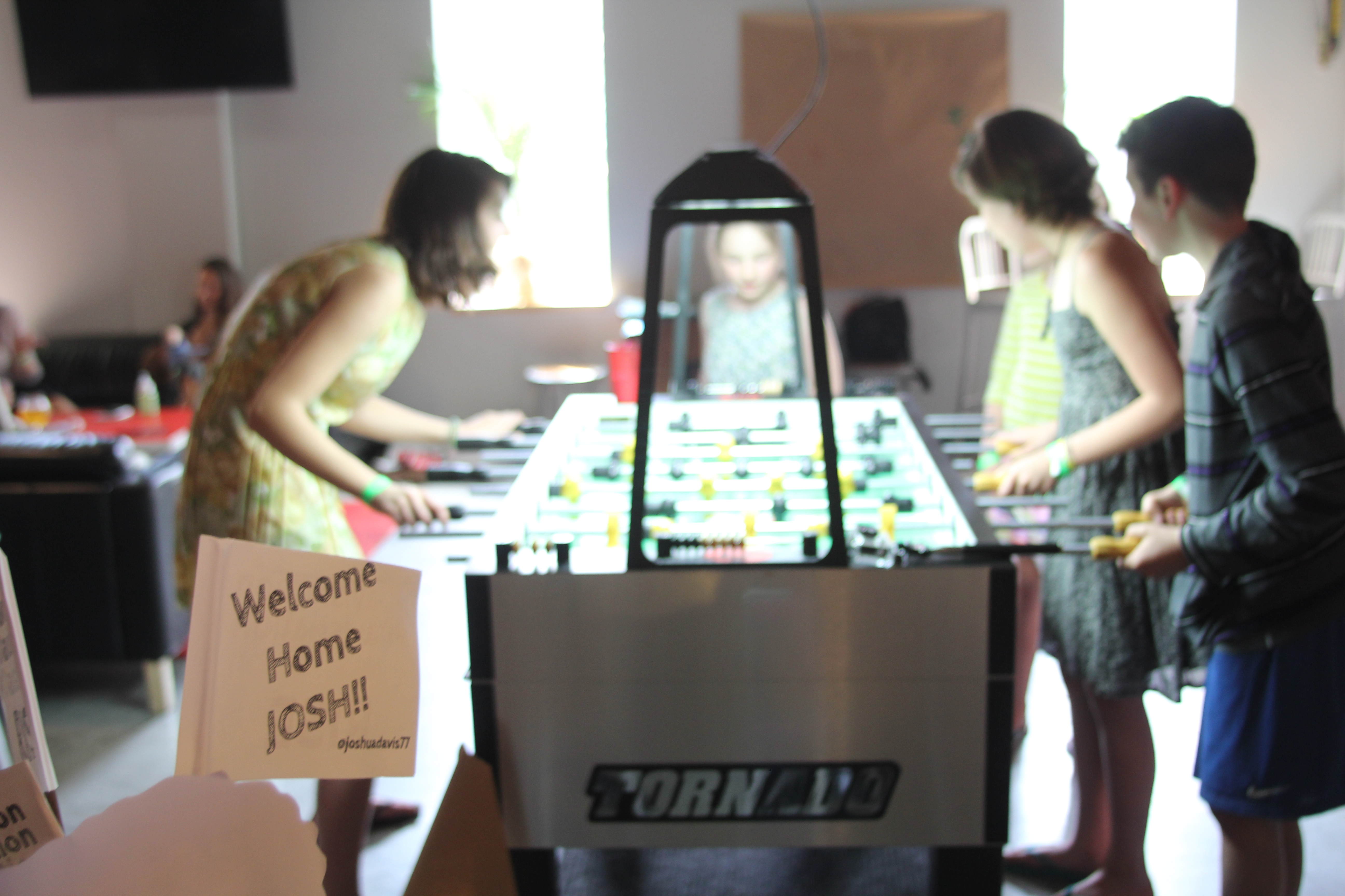 Foosball Table Children Tahlia Davis Nadia Moehle Sonja Sunny Moehle The Workshop Brewing Company #davisNation Traverse City Joshua Davis NBC The Voice Homecoming Party