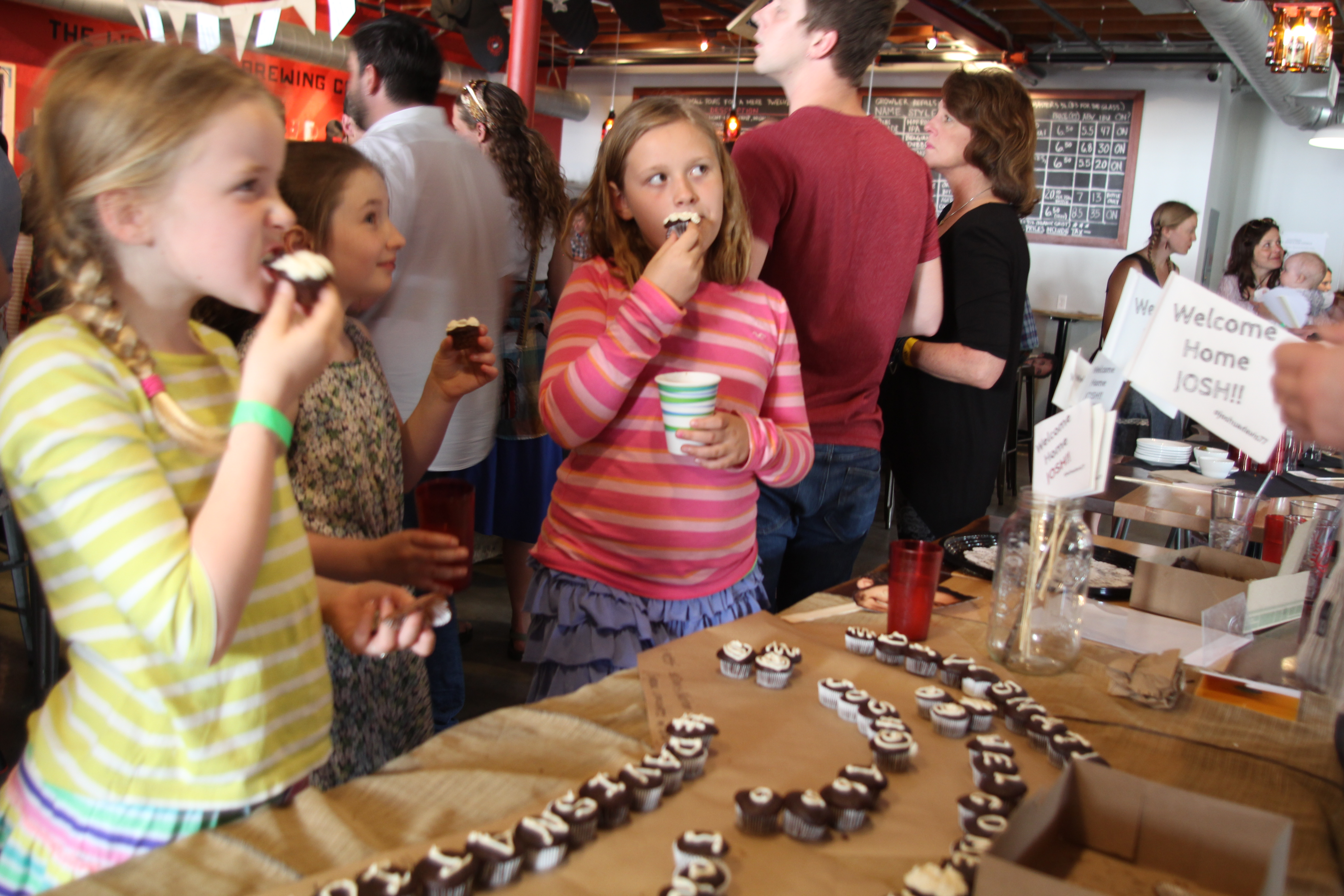 Cupcakes Children Tahlia Davis The Workshop Brewing Company #davisNation Traverse City Joshua Davis NBC The Voice Homecoming Party