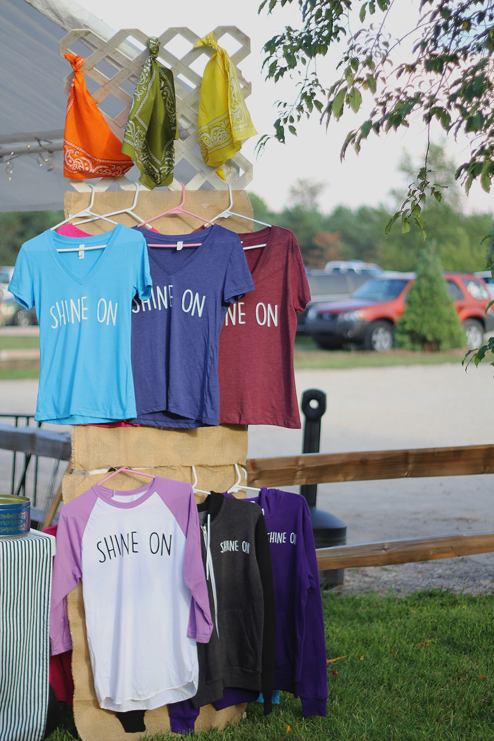 Shine On song Daisy May Erlewine Bernard Earthwork Music Collective T-shirt tshirt sale St. Ambrose. Cellars Isaac Julian Legacy Foundation Benefit Concert Benzie County Frankfort-Elberta High School teen suicide prevention