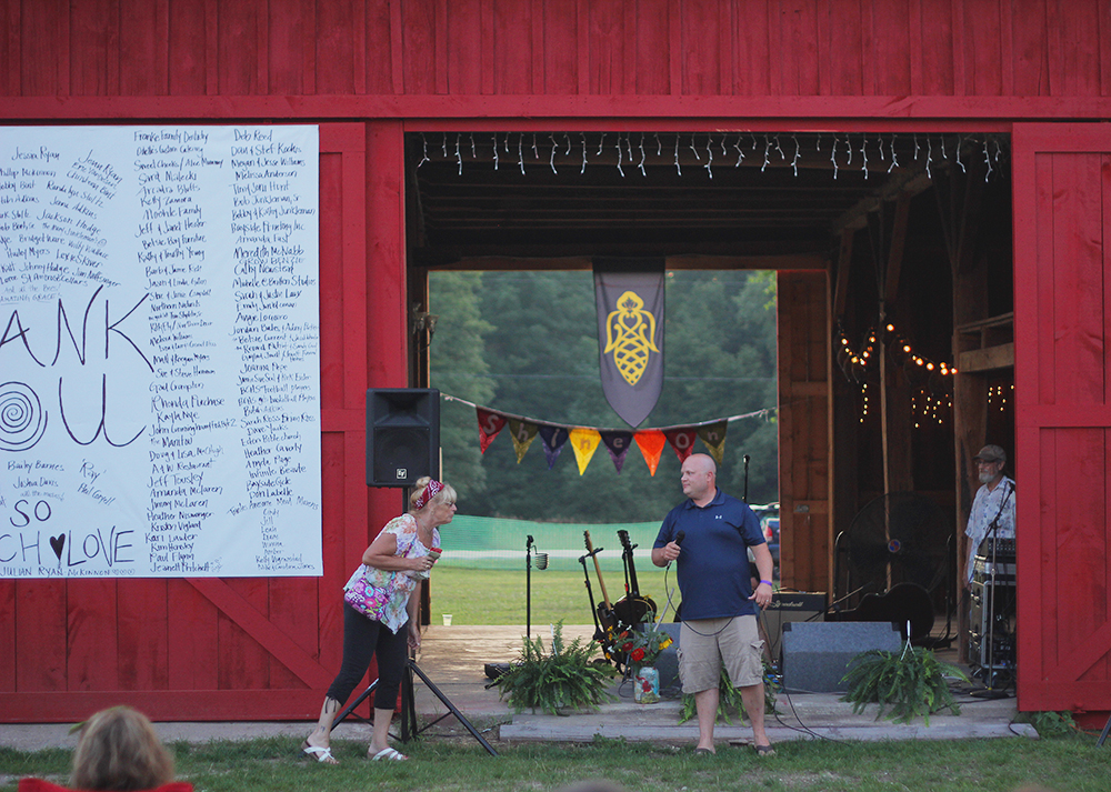 fundraiser fundraising silent auction outdoor concert barn concert community summer event St. Ambrose Cellars Isaac. Julian Legacy Foundation Benefit Concert Benzie County Frankfort-Elberta High School teen suicide prevention