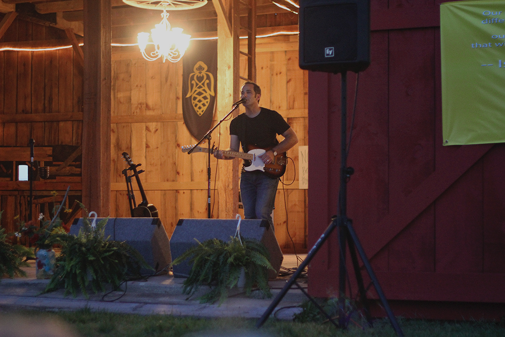 Joshua Davis musician Earthwork Music NBC The Voice barn concert St. Ambrose Cellars outdoor concert. community summer event Isaac Julian Legacy Foundation Benefit Concert Benzie County Frankfort-Elberta High School teen suicide prevention