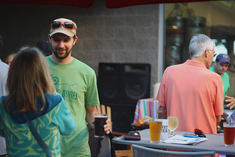 Stormcloud Brewing Company Stormcloud Brewery Frankfort Michigan patio party