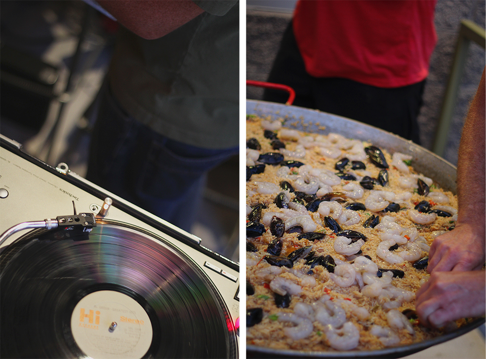 paella jumbalaya Jim Barnes Elberto's Taqueria Crystal Lake Catering DJ Disc Jockey vinyl record player Stormcloud Brewing Company Stormcloud Brewery Frankfort Michigan