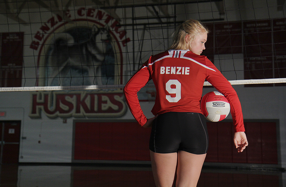 Madi Kunkel Benzie Central volleyball Benzie Central varsity volleyball Benzie Central huskies