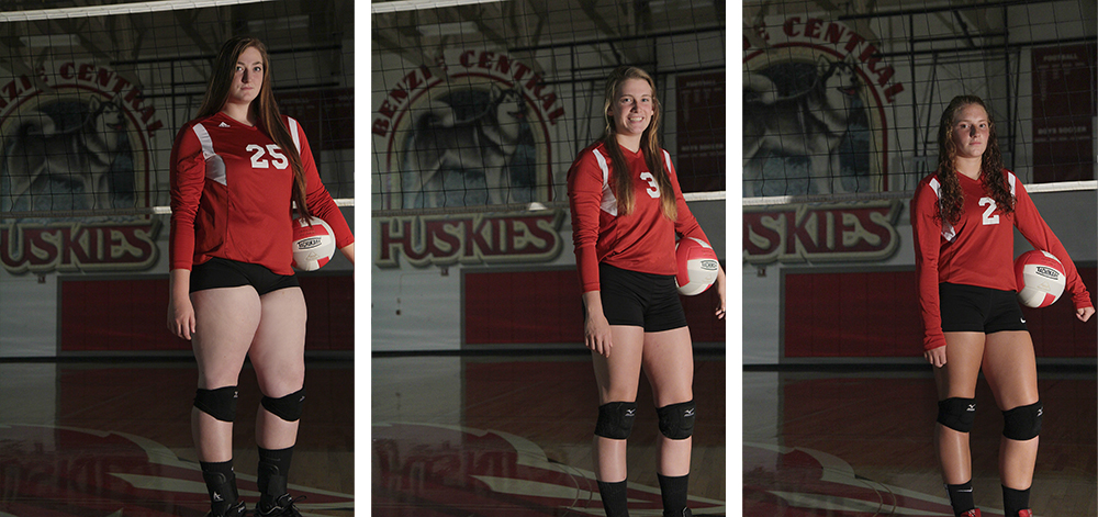 Benzie Volleyball Manon Lutzke Sarah Stapleton Ross Leah Stapleton Benzie Central volleyball Benzie Central varsity volleyball Benzie Central huskies