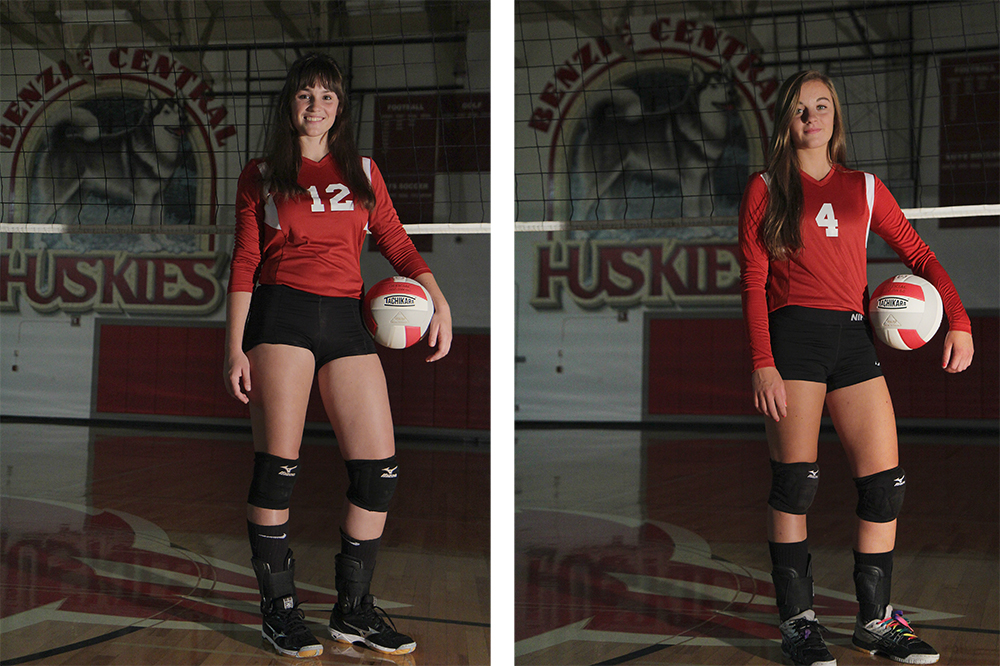 Lauren Church Hadley O'Connor Benzie Central volleyball Benzie Central varsity volleyball Benzie Central huskies
