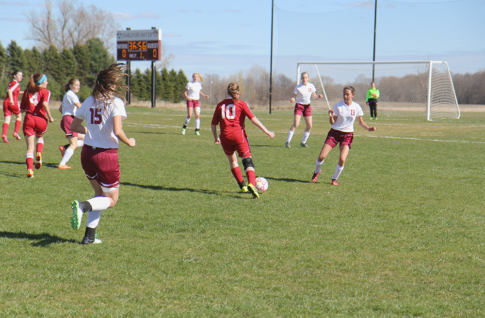 Haley Papineau Benzie Central girls varsity soccer Charlevoix girls varsity soccer Benzie Central Huskies Charlevoix Rayders Benzie Lady Huskies Charlevoix Lady Raiders