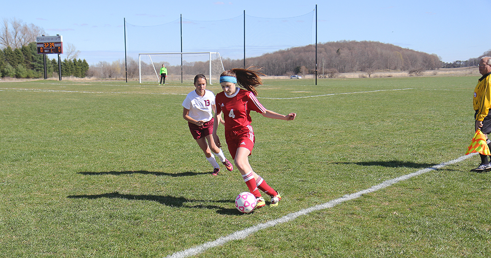 Grace Anderson Benzie Central girls varsity soccer Charlevoix girls varsity soccer Benzie Central Huskies Charlevoix Rayders Benzie Lady Huskies Charlevoix Lady Raiders