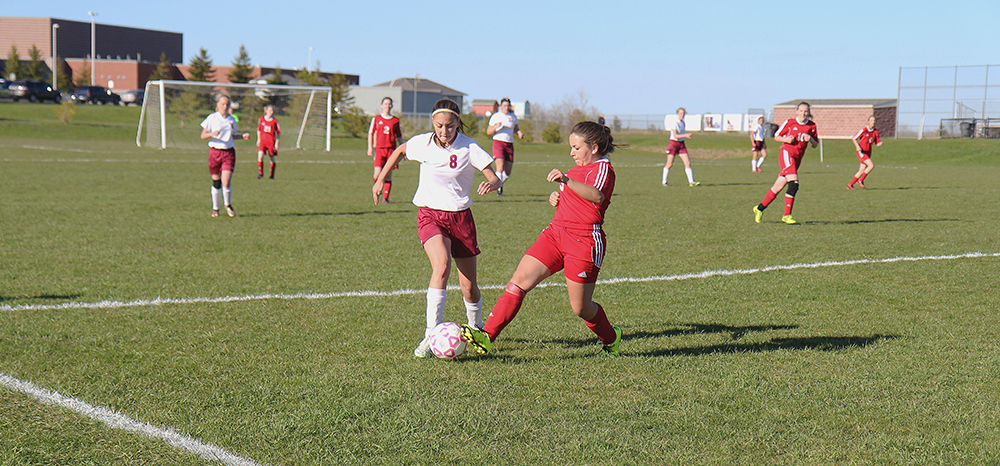Allie Howell Benzie Central girls varsity soccer Charlevoix girls varsity soccer Benzie Central Huskies Charlevoix Rayders Benzie Lady Huskies Charlevoix Lady Raiders