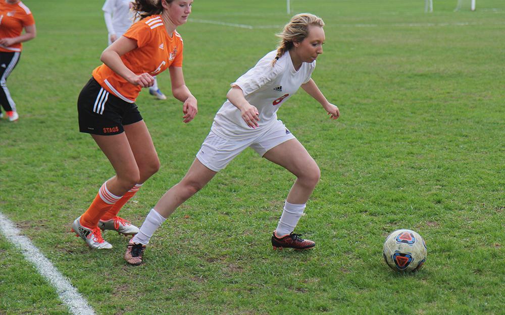 Jenna Saier Benzie girls soccer Maddie Bies Kingsley girls soccer