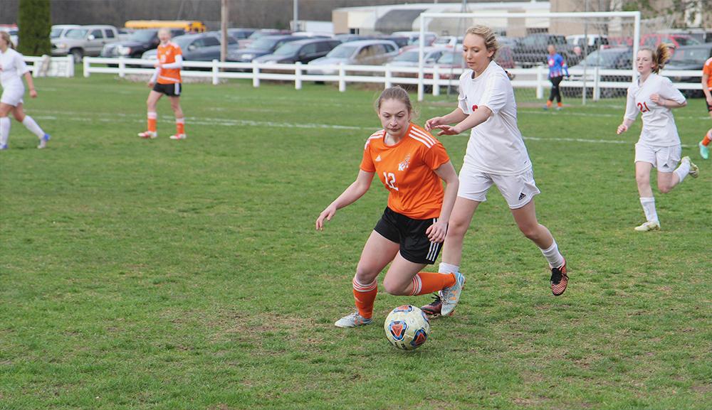 Jenna Saier Benzie girls soccer Haley Stangley Kingsley girls soccer