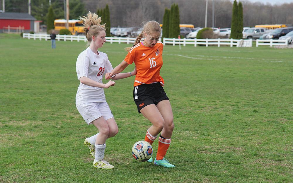 Promise Thomason Benzie girls soccer Brianna Breithaupt Kingsley girls soccer