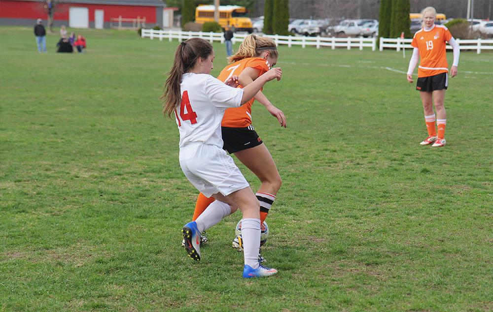 Novia Dalzell Benzie girls soccer Kelsie Bies Kingsley girls soccer