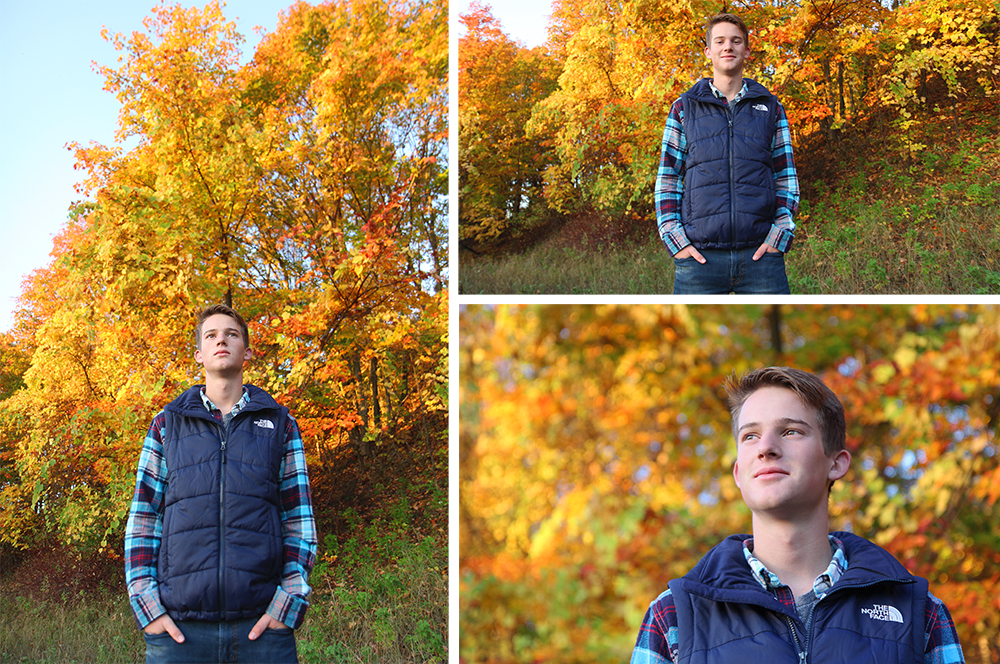 Cam Kubit fall senior portrait session Benzie County Northern Michigan photographer Aubrey Ann Parker photography
