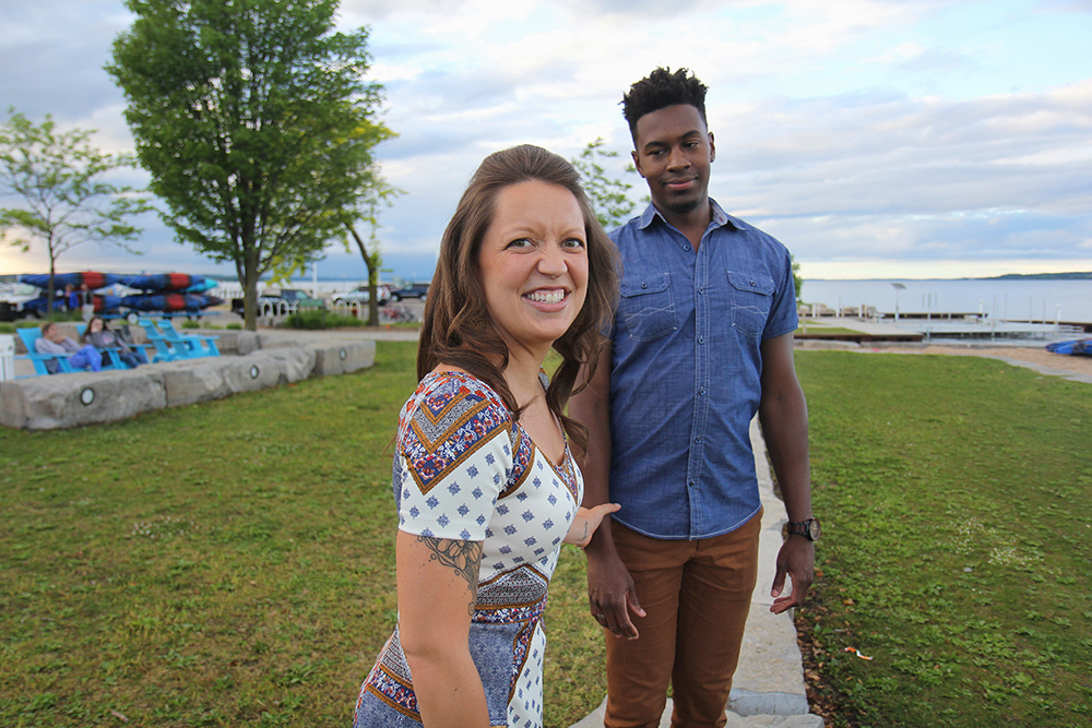 Nora Seilheimer Joe Clinch Park downtown Traverse City engagement photo session Aubrey Ann Parker photography