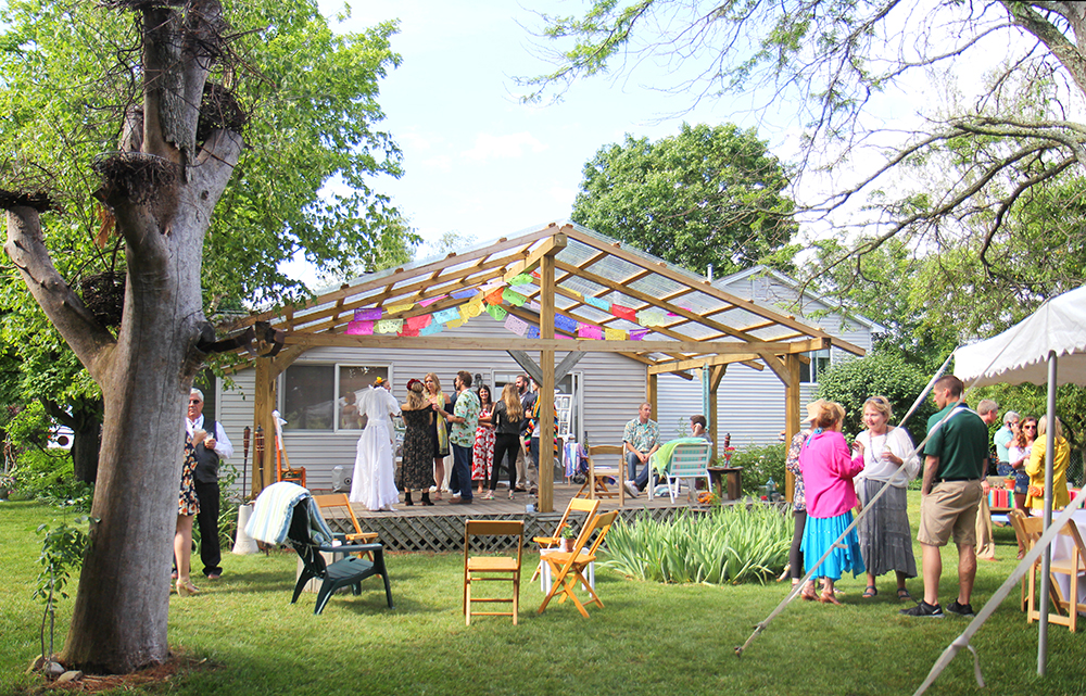 backyard wedding Traverse City wedding Northern Michigan wedding mexican wedding theme mexican decorations cinco de mayo party