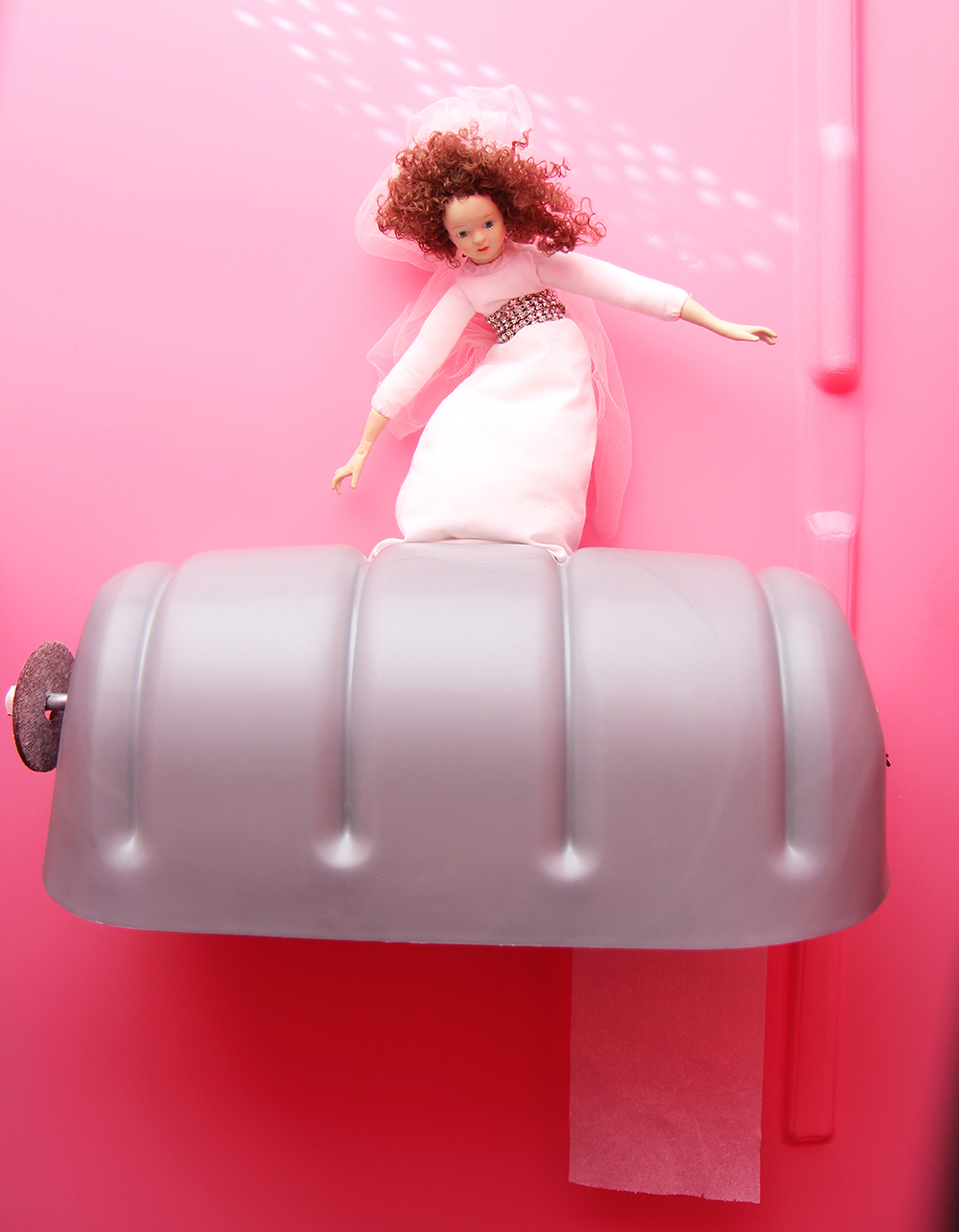 surfing bride porta-potty pink porta-potty traverse city wedding