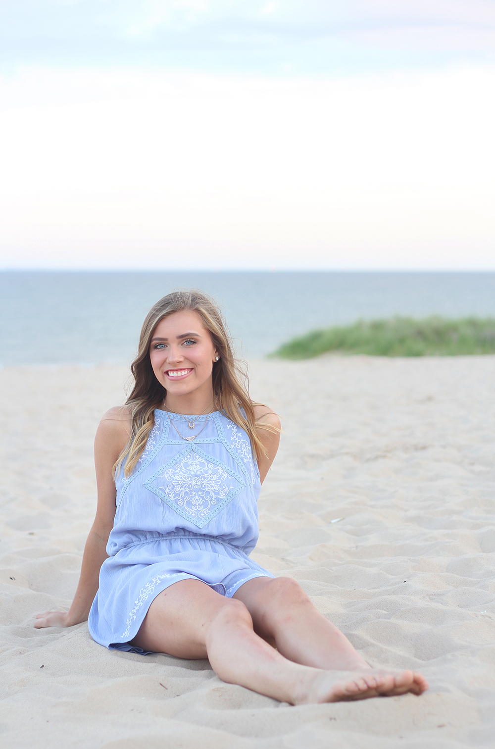 Jillian Graham aubrey ann parker photography Lake Michigan beach senior portraits benzie county photographer