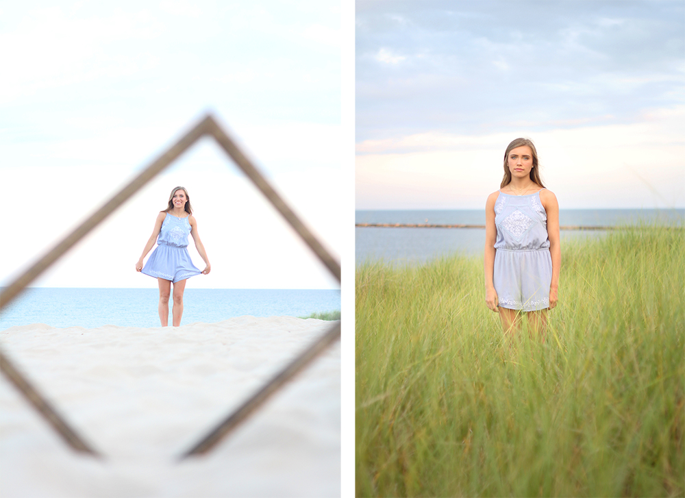 Jillian Graham Cherie Graham Cheryl Graham Mattawan Frankfort beach senior photos aubrey ann parker photography Lake Michigan beach