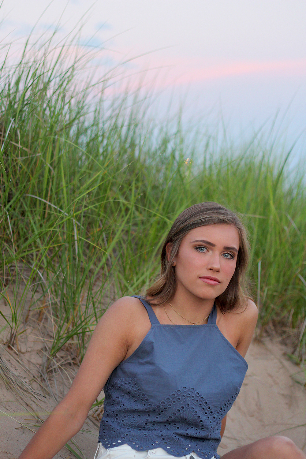 Jillian Graham Frankfort beach senior photos Lake Michigan beach northern michigan photographer