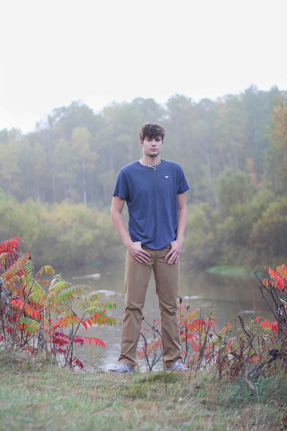 Brian Kaczanowski senior portrait Benzie County photographer Betsie River Homestead Dam aubrey ann parker photography