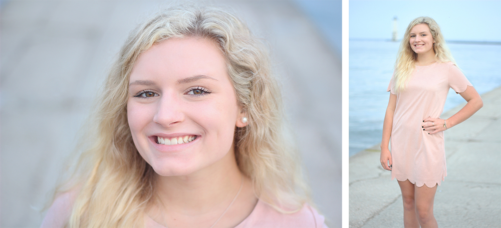 Samantha Jones Frankfort beach senior photos Lake Michigan beach northern michigan photographe